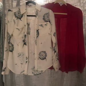 2 Express Blouses XSMALL